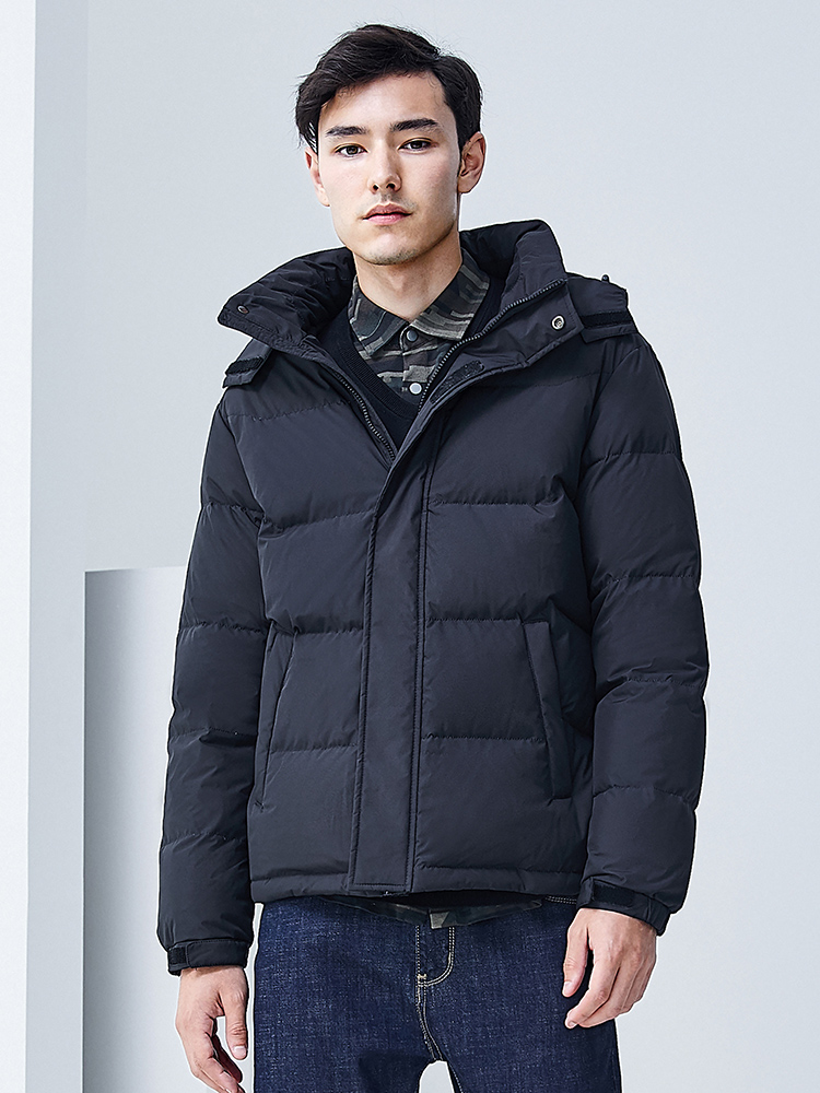 Fashion new winter 2019 hooded   down   jacket male short thickening warm   down     coat