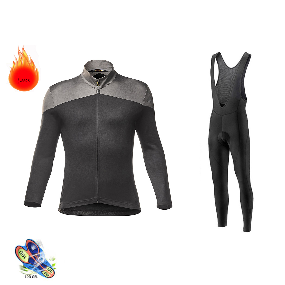 2019 Mavic Pro team Winter Long Sleeve Cycling Jersey Set MTB Bike Clothing Uniform Thermal Fleece Bicycle Maillot Ropa Ciclismo