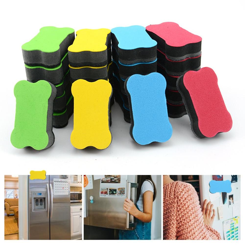 2pcs Cleaner Chalkboard Mini Small Home School Wipe Bone Shape Dry Sponge Magnetic Whiteboard Eraser Office Supplies Portable
