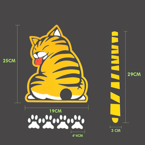 Image 4 - KAWOO Waterproof Car Stickers Cartoon Funny Moving Tail Cat Stickers Car Styling Window Wiper Decals Rear Windshield Sticker