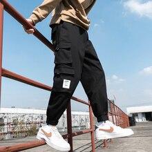 New Men's Big Pocket Cargo Harem Pants Casual Trousers Male Hip Hop Men Jogger Sweatpants Fashion Streetwear Pants Oversized