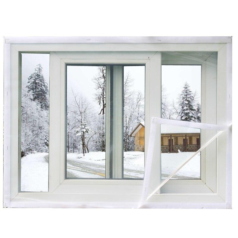 Winter Window Film PVC Warm Decorative Window Film Custom  Energy transparent Soft glass film For window Curtain Windproof Film