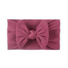 Bandeau à nœud pour cheveux, 1 pièces, élastique, couleur Pure, ruban pour enfants, en Nylon, bandeau latéral large pour bébé, coiffure