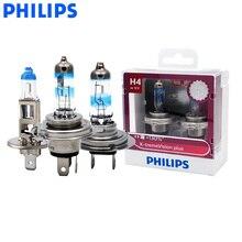 فيليبس مصباح أمامي للسيارة ، مصباح هالوجين أبيض ساطع ، زوج ، H1 H4 H7 9003 ، 12 فولت X treme Vision Plus ، ECE 130%