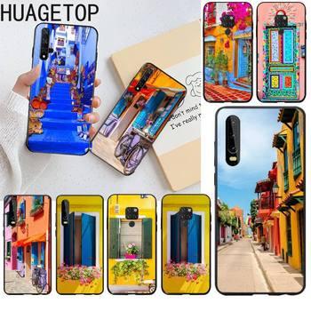 Como Casas Coloridas proporcionam alegría Coque funda del teléfono carcasa para Huawei...
