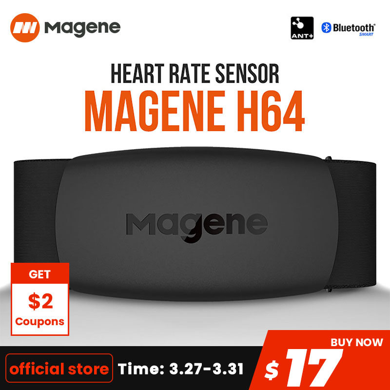 magene Mover H64 Heart Rate Monitor Bluetooth4.0 ANT + magene Sensor With Chest Strap Computer Bike Wahoo Garmin BT Sports Band|Bicycle Computer| |  - title=