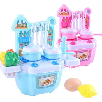 Baby Mini Simulation Kids Kitchen Pretend Play Games Toys Cookware Food Cooking Children Educational Gift For Boys Girls 1