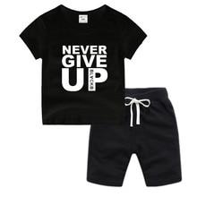 Little Boy Girl Anime Mohamed Salah Never Give Up Cotton T-Shirt Summer Kids Christmas Shirt Children Cartoon Toddler Tshirt