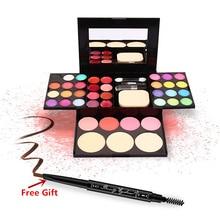 Makeup Set 24 Colors Eyeshadow+8 colors Lipstick+4 Colors Blush+3 Colors Foundation Base