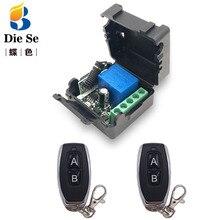 Controle remoto 433mhz dc 12v 1ch rf interruptor do relé receptor e transmissor para o controle remoto da garagem e interruptor de luz remoto
