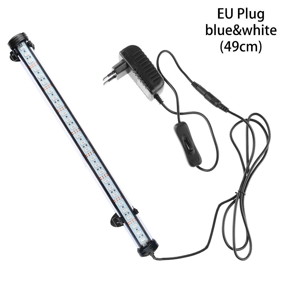 Горячие 19/29/39/49 см светодиодный аквариум светильник сине-белые rgb-пульт дистанционного Управление подводный Водонепроницаемый погружной лампа бар воздушный пузырь светильник - Цвет: EU Plug4