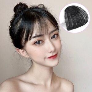 Для женщин поддельные челки для наращивания волос на заколках натуральные воздушные челки синтетический парик коричневый красный серебристый черный аксессуары для волос