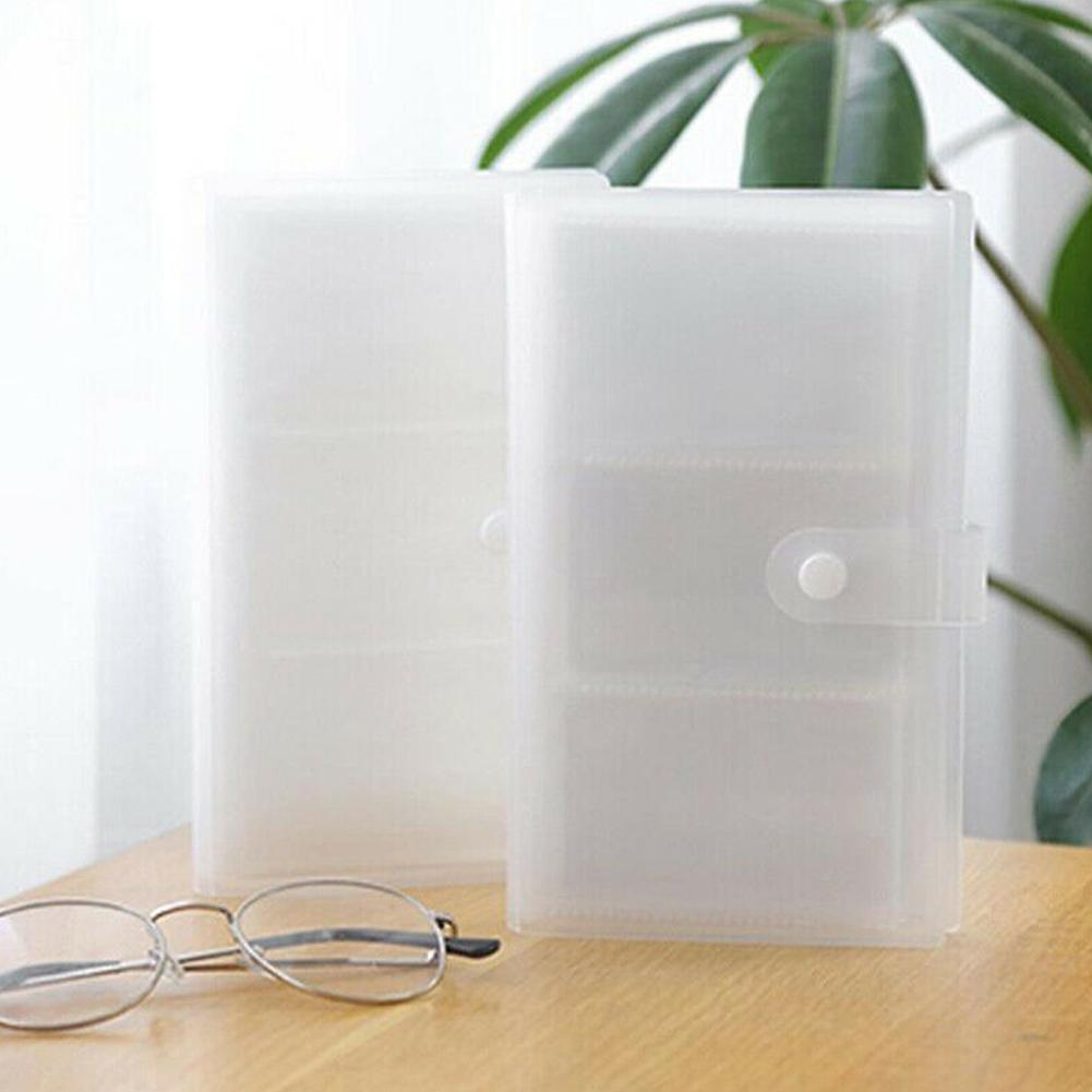 1PC Transparent Business Card Id Card Holder 240 Card Slots Large Capacity Card Ticket Collection Business Office Card Holder