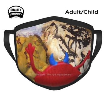 A Red Monster Piace Il Gelato Windproof Sport Mouth Mask Red Monster Brewing Red Monster Gelato image
