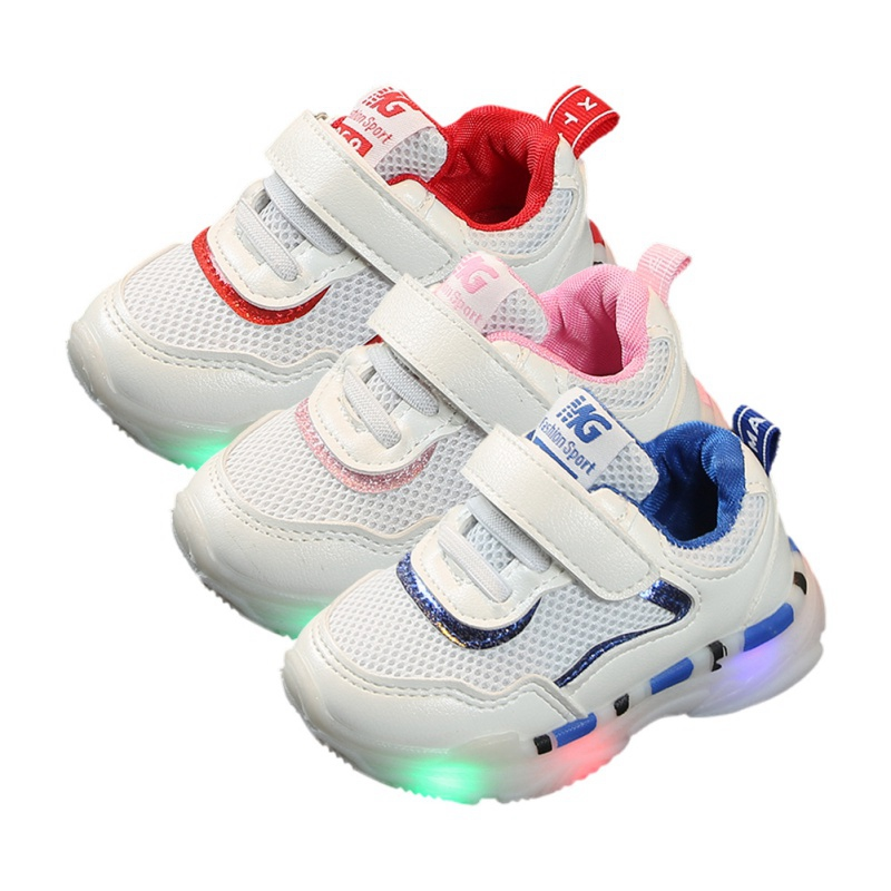 Children Luminous Shoes Boys Girls Sport Running Shoes Baby Flashing Lights Fashion Sneakers Toddler Little Kid LED Sneakers B8