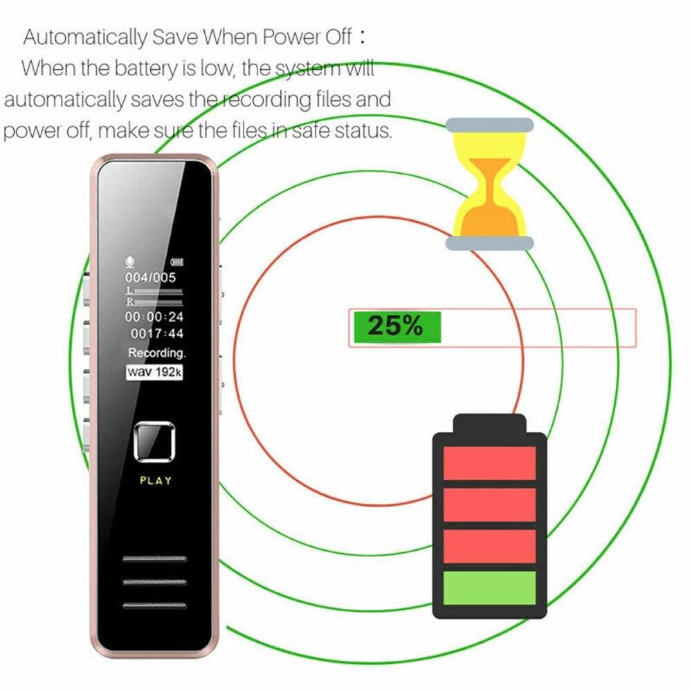 Профессиональный цифровой диктофон, динамик, цифровой диктофон, воспроизведение звука, 32 ГБ, перезаряжаемый цифровой диктофон, мини