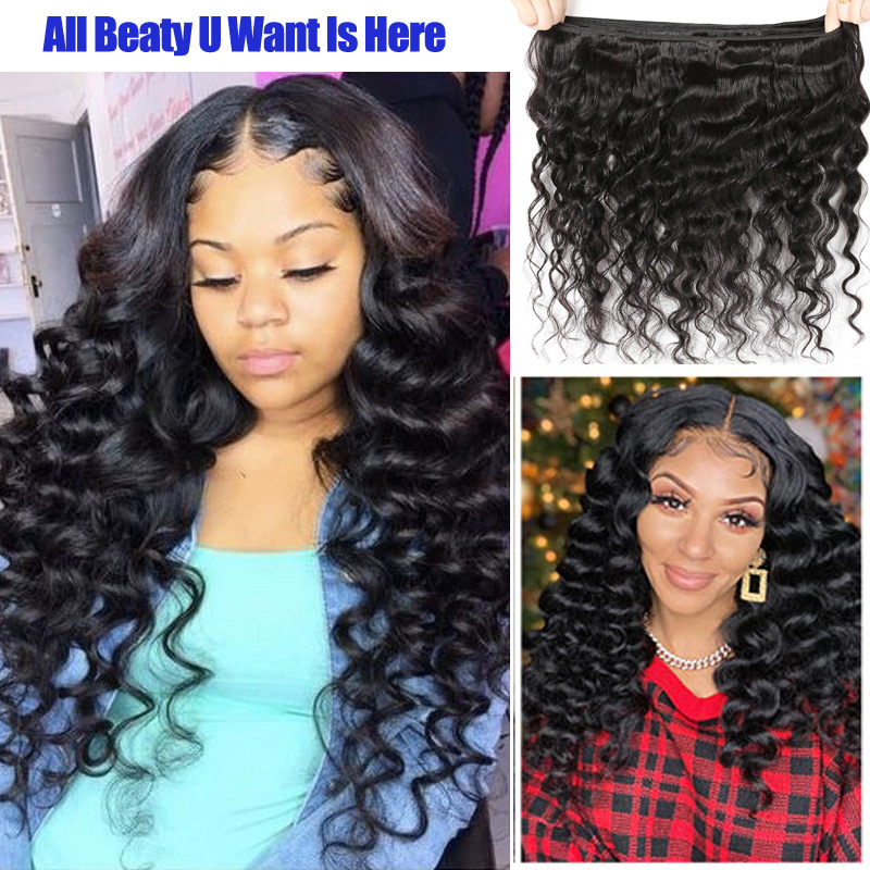 BEAUDIVA Mongolian Loose Curly Hair Bundles  s Nature Color Buy 1/3/4 Bundles Thick Loose Curly Bundles 2