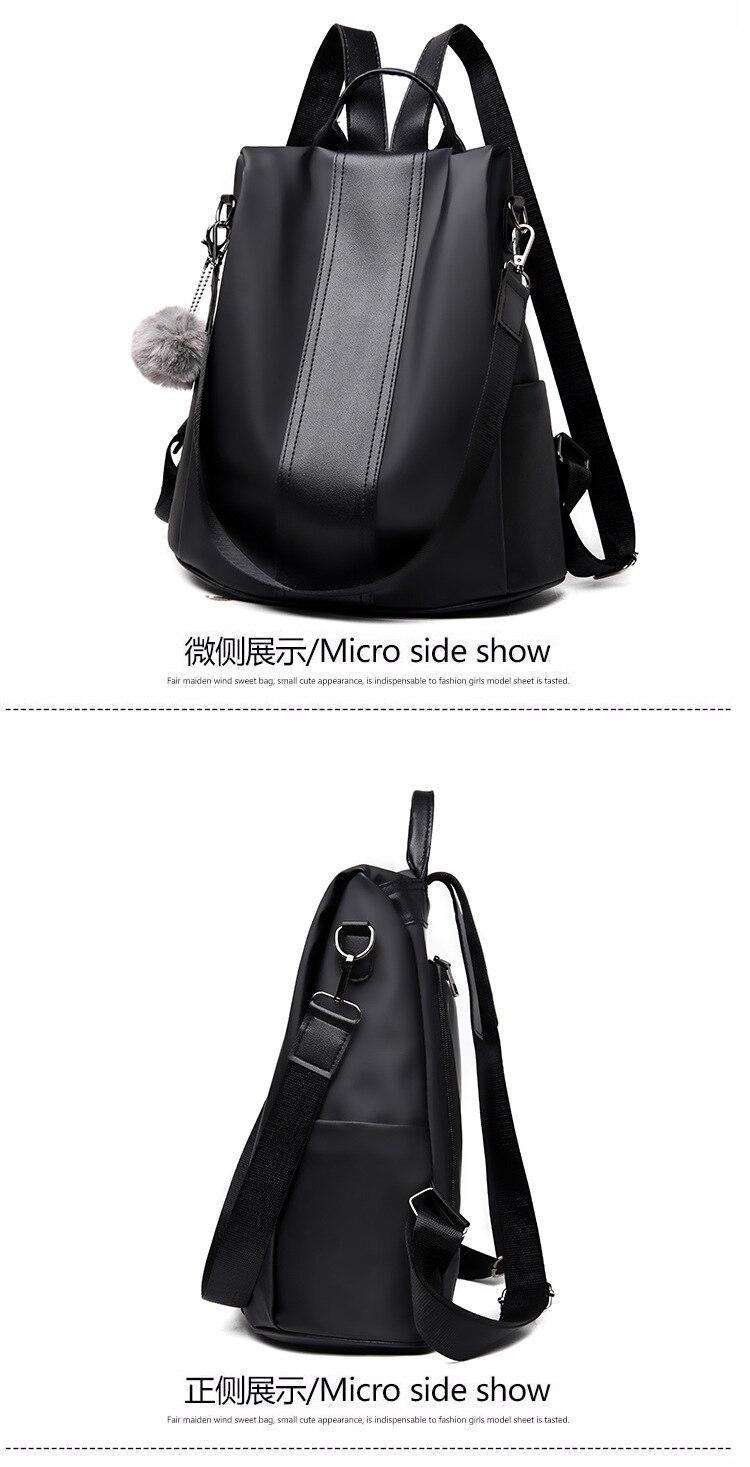 H84d9e0f7be284e71a7fcbf1cb19a6f62B 2019 Women Leather Anti-theft Backpacks High Quality Vintage Female Shoulder Bag Sac A Dos School Bags for Girls Bagpack Ladies