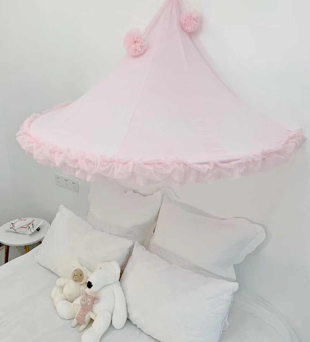 Baby Meisjes Klamboe Tent Bed Luifel Gordijnen Peuter Infant Crib Netten Cot Klamboe Roze Grijs Wit Kids Play tenten
