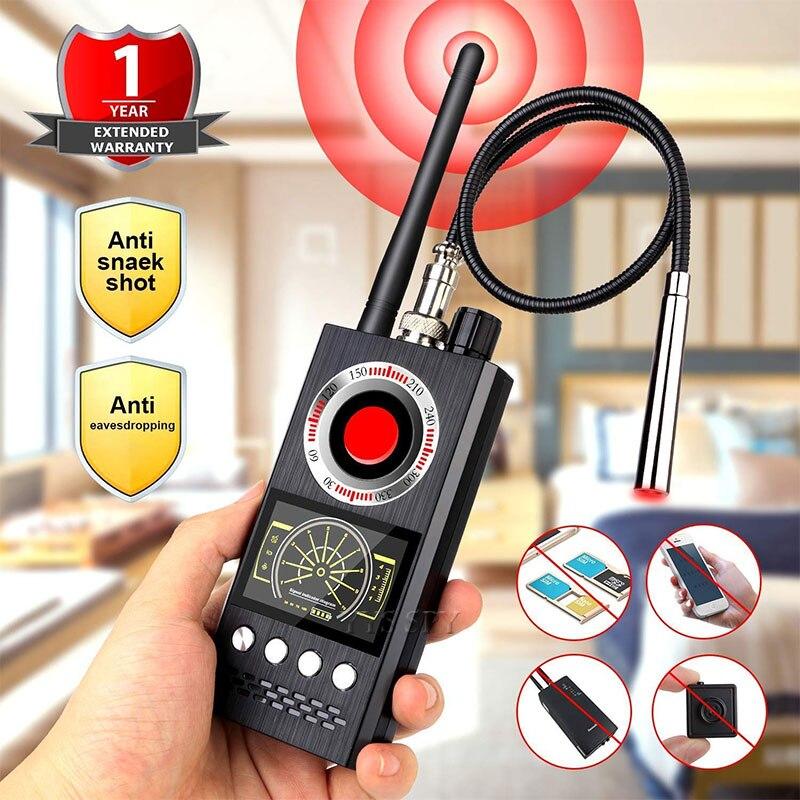 K68 Anti Spy Wireless RF Signal Detector Bug GSM GPS Tracker Hidden Camera Eavesdropping Device Military Professional Version
