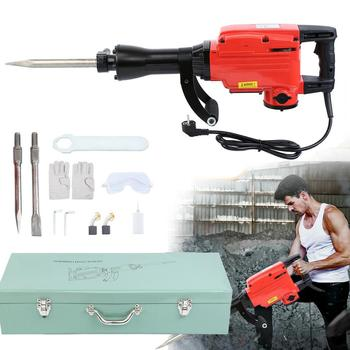 1850W Electric Rotary Hammer Demolition Crushing Hammer Jack Jackhammer Concrete Drill with Chisels|Electric Hammers| |  -