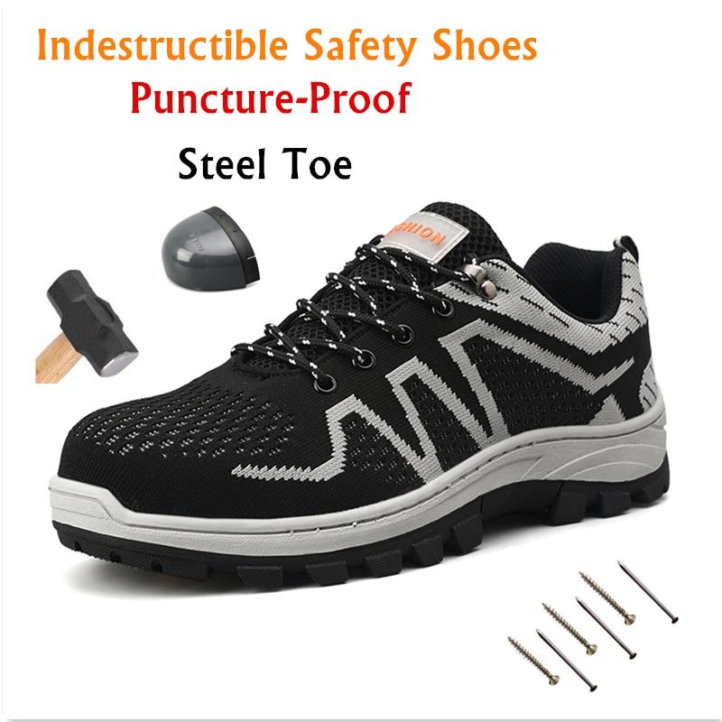 Men's Steel Toe Work Immortal Shoes Men
