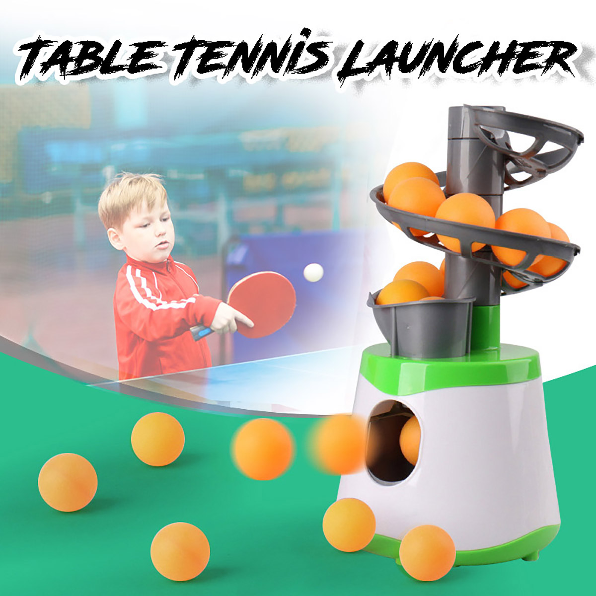 Mini Table Tennis Robot Parent-child Student Sender Pitching Serve Machine Trainer Gift Racquet Sport