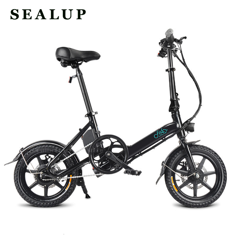 Fiido D3 Mini Electric Bike Two Wheels Bicycle 14 Inch 36V 250W Adults Portable Foldable With Seat