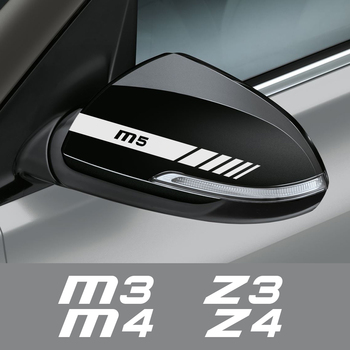2PCS Car Rearview Mirror Sticker For BMW M1 Homage 40i M2 F87 M3 E90 E92 M4 M5 M6 Z1 Z3 E36 Z4 E89 Z8 E52 Auto Accessories image