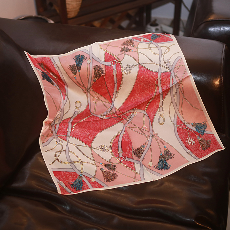 "New Silk Scarf ""ribbon"" Silk Small Square Scarf Scarf Scarf 100% Mulberry Silk Professional Commuter"