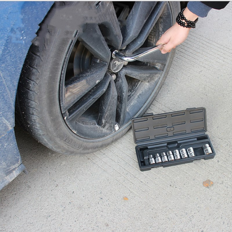 A 10 piece l Bar Tire Removal Kit With On board Tire Change Tool Removing Socket Wrench in Wrench from Tools