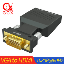 VGA Male to HDMI Female Adapter With Audio Support 1080P 60Hz VGA2HDMI for PC laptop to Monitor Projector VGA HDMI converter цена в Москве и Питере