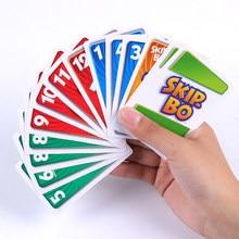 1 caixa un pular bo jogo de cartas o jogo de cartão sequenciamento família festa jogo de tabuleiro brinquedos crianças brinquedo