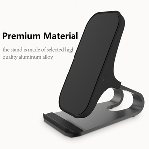 Image 4 - Desktop Wireless Phone Charger Metal Stand Holder for Xiaomi mi9 10W Fast Charge Qi Wireless Charger for Samsung S10 S9 S8 Plus