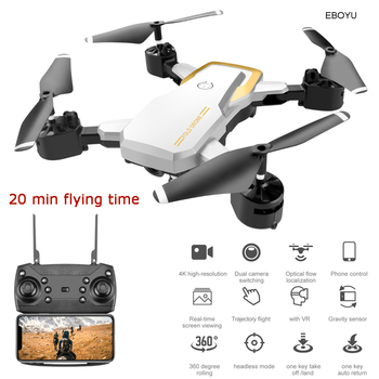 EBOYU Updated LF609S 2.4Ghz 4CH Fold RC Drone 4K WiFi FPV Camera Altitude Hold Headless Mode One Key Return RC Quadcopter RTF