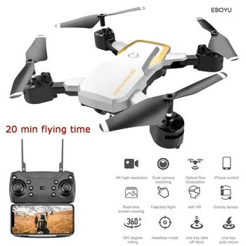EBOYU Updated LF609S 2.4Ghz 4CH Fold RC Drone 4K WiFi FPV Camera Altitude Hold Headless Mode One Key Return RC Quadcopter RTF