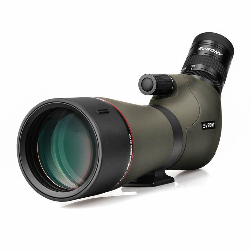 SVBONY 20-60x80 Spotting Scope Zoom Nitrogen Filled Water-proof Telescope Dual Focus Mechanism Metal Body For Birdwatching SV46