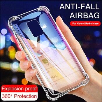 Shockproof Case For Xiaomi Redmi Note 7 8 9 Pro Silicone Transparent Case For Redmi 8 8A 9 9A 9C Phone Cover Redmi Note 9s 9 5 6 1