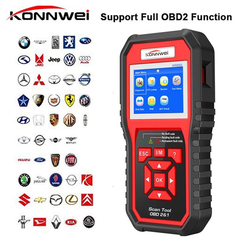 Professional OBD2 Scanner Automotive KW850 Code Reader OBD II  amp  EOBD Code Scanner Auto Diagnostic Tool for all car after 1996