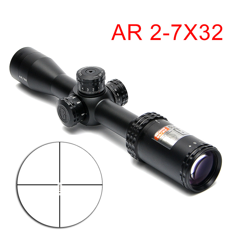 2-7X32 AR Riflescope Drop Zone-22 With Reticle Tactical  Scope Target Turrets Hunting Sights For Rifles