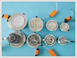 Image 3 - LED תקרת אור אלומיניום מקורה ספוט אור זרקור שקוע LED למטה אור 3W 5W 7W 9W 12W 15W 18W 21W 24W תקרת אור