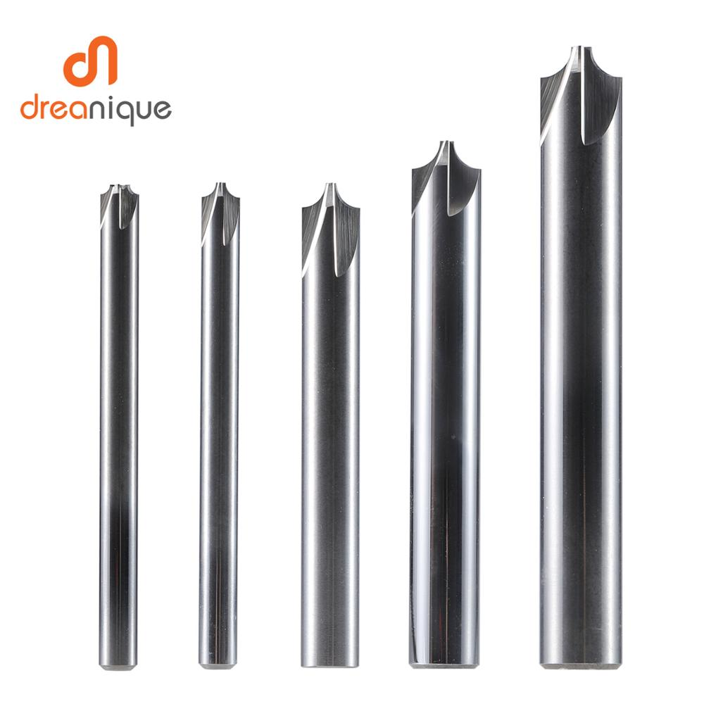 1pc Chamfering Milling Cutter 4-14mm Deburring Solid Carbide End Mills Cnc Router Bit 90 Degree Inner Radius Chamfer Tools