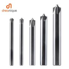 1pc chamfering milling cutter 4-14mm deburring solid carbide end mills cnc Router Bit 90 degree inner radius chamfer tools 1pc 14mm hrc45 d14 45 d14 135 3flutes roughing end mills spiral bit milling tools carbide cnc endmill router bits