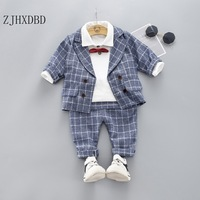 Wedding Suits for Boys Formal Wear Jacket Cotton Boy Suits for Boy Costume Kids Blazer Baby Boy Outfits Chlidren Clothing Set