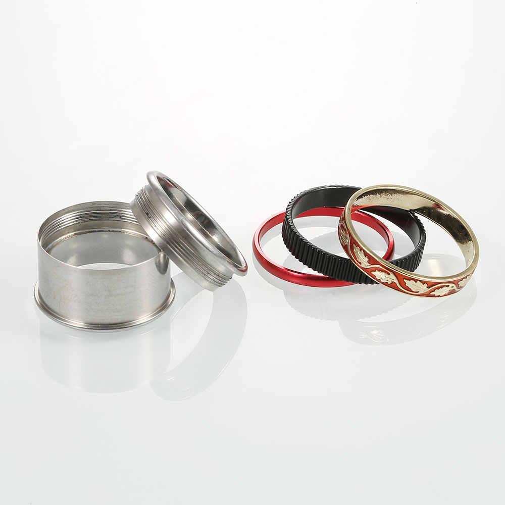 Floya Vintage anillos rojo esmalte titanio hombres mujeres moda Acero inoxidable anillos negro boda banda vacaciones aniversario regalo