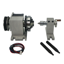 New CNC tailstock Rotary Axis 4th Axis with Chuck 65mm for woodworking engraving machine