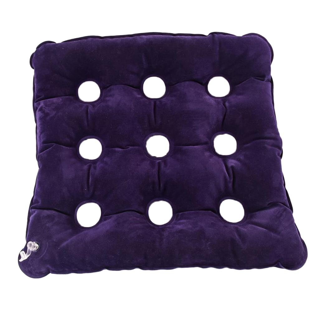 Air Inflatable Seat Cushion Pressure Relief Anti Hip Bedsore Air Mattress For Wheelchair/Car/Office Prolonged Sitting