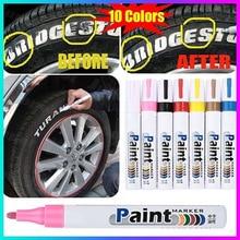 Автомобильная шина Краска Ручка водонепроницаемый маркер с перманентной краской ручка(10 цветов на выбор