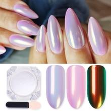 1 Box Mirror Glitter Nail Polish Chrome Pigment Powder DIY Salon Holographic Powder Neon Nail Art Decoration Manicure Decoration