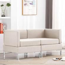 Canapé d'angle sectionnel moderne canapé couleur tissu uni pour salon canapé ensemble deux unités avec coussins de siège amovibles